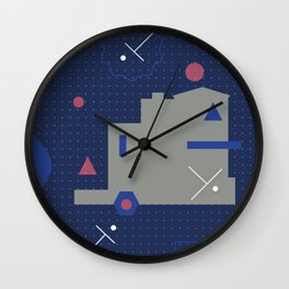 Play on pattern series 02 Wall Clock
