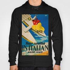 Vintage Italian Seaside Resorts Travel Ad Hoody