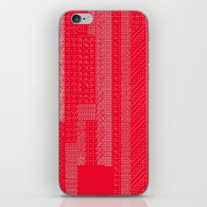 White Over Red iPhone & iPod Skin
