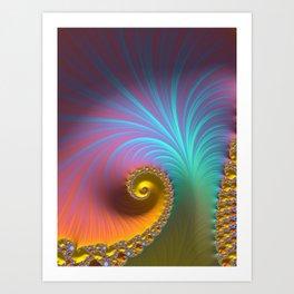 Kapow! - Fractal Art  Art Print