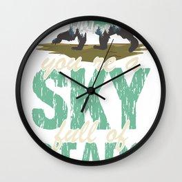 Melting Melting Gift Heaven Shirt Wall Clock