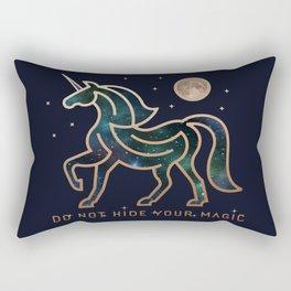 Do Not Hide Your Magic - Galactic Unicorn Rectangular Pillow