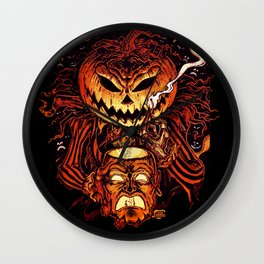 Halloween Pumpkin King (Lord O' Lanterns) Wall Clock