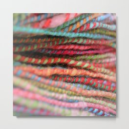 Handspun Yarn Color Pattern by robayre Metal Print