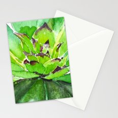 green succulent 3 Stationery Cards