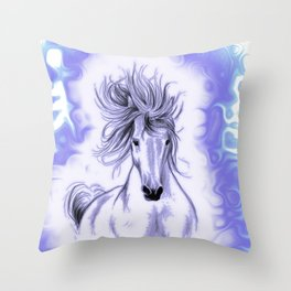 Blue Andalusian Flares Throw Pillow