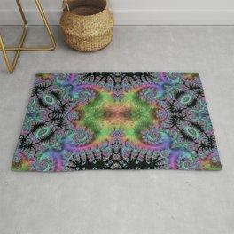 Psychedelic Fractal Kaleidoscope Rug