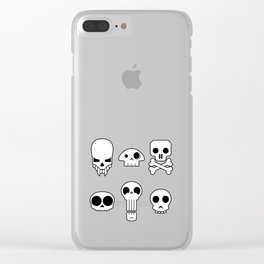 All skulls, all the time. Clear iPhone Case