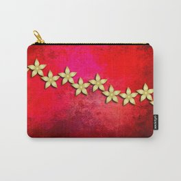 Spectacular gold flowers in red and black grunge texture Carry-All Pouch
