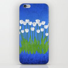 White Tulips iPhone & iPod Skin