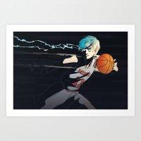 kuroko Art Prints featuring Phantom Sixth Man by saturnpolice