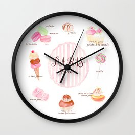 Paris Patisserie Wall Clock
