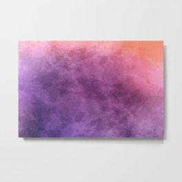 Purple Watercolors Metal Print