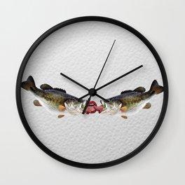 Fish Kiss - Trout Pout Wall Clock