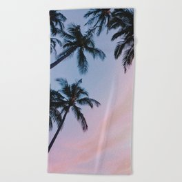 cotton candy skies Beach Towel