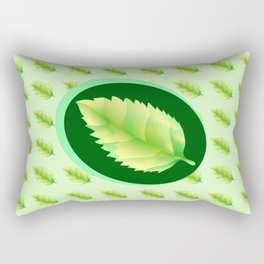 Green leaf of the tree. Leaf linden or apple for background or a logo or a pattern. Rectangular Pillow