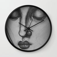 madonna Wall Clocks featuring The Madonna by Sarah Mary Street