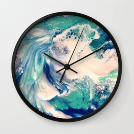Ocean Splash Wall Clock