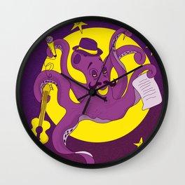 Bohemian Octopus Wall Clock