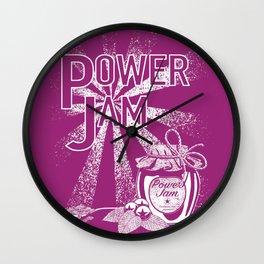 Power Jam graphic Wall Clock
