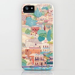 symi island greece iPhone Case