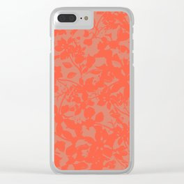 Coral Botanical Pattern - Broken but Flourishing Clear iPhone Case