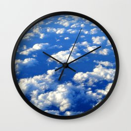 Blue Blue Sky by Lika Ramati Wall Clock