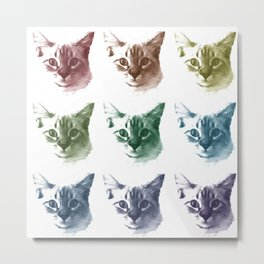 COLORFUL MEOWS Metal Print