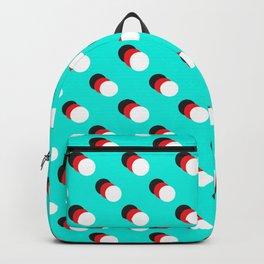 Black Circle, Red Circle, White Circle Backpack