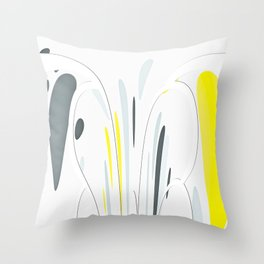 Yellow and gray Throw Pillow