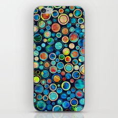 Dots on Painted Background iPhone Skin