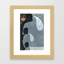 THEEsatisfaction Poster Framed Art Print