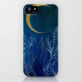 Flower Moon iPhone Case