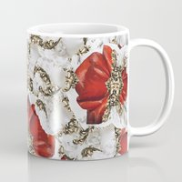 roman Mugs featuring Roman Collage by Eleaxart