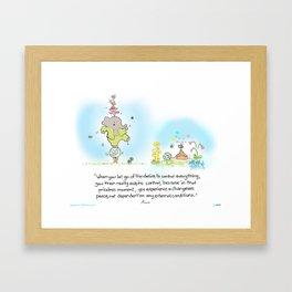 World Control Framed Art Print