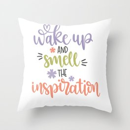 Get Up And Get The Inspiration Mrogen Man Throw Pillow