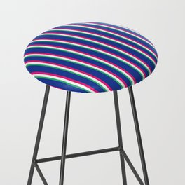 Between the Trees - Blue, Pink & Green #571 Bar Stool