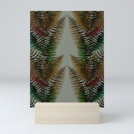 Looking up between Ferns Mini Art Print