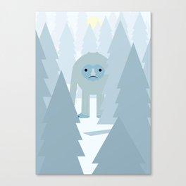 Yeti Poster Canvas Print