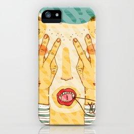 weird fingers weird hands iPhone Case