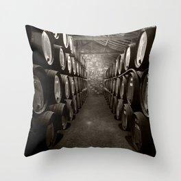 Barrels of Porto Throw Pillow