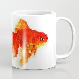 Sleeping Goldfish Watercolor Painting Coffee Mug