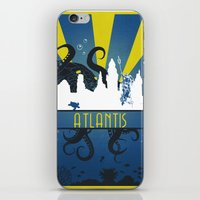 aquaman iPhone & iPod Skins featuring Atlantis by Angela S