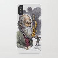darwin iPhone & iPod Cases featuring Darwin by ElenaTerrin