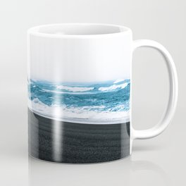 Melancholic Beach Stroll in Iceland Coffee Mug