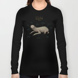 Anatomy of a Sloth Long Sleeve T-shirt