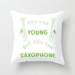 Sax Musician Musician Marching Throw Pillow