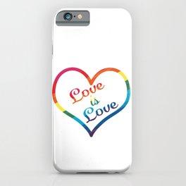 LGBTQ+ Pride Love Wins Paint Stroke Design iPhone Case
