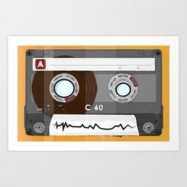The cassette tape Robot Art Print