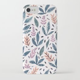 Painted Leaves iPhone Case